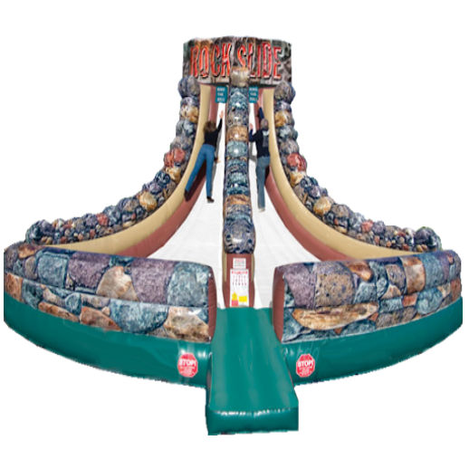 Rock Slide Interactive inflatable bounce party rental michigan