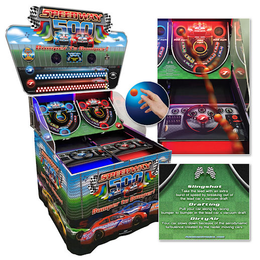 SPEEDWAY 500 giant LED skill nascar race Arcade carnival game party rental michigan