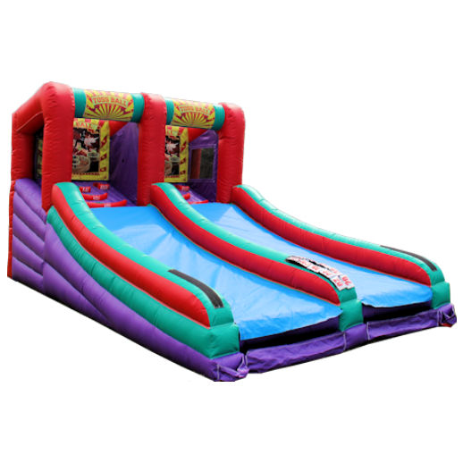 Skee Ball toss ball carnival game inflatable interactive bounce house moonwalk party rental michigan