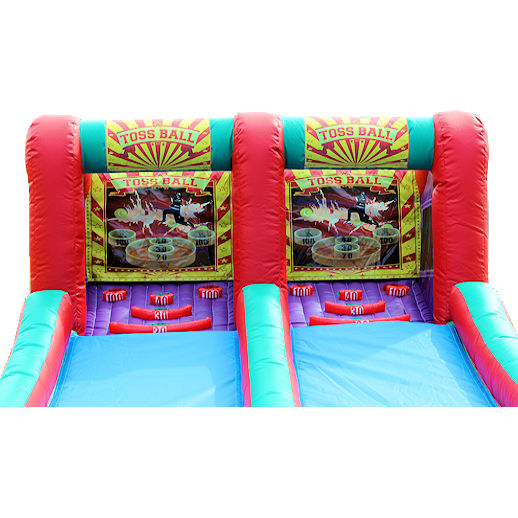 Skee Ball toss ball carnival game interactive inflatable bounce house moonwalk party rental michigan
