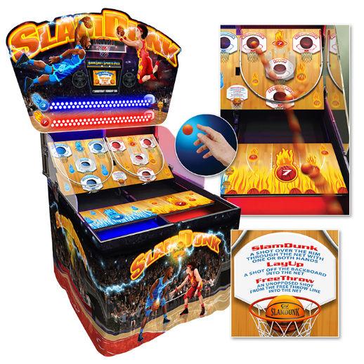 Slam Dunk Arcade basketball skill carnival game rental detroit michigan