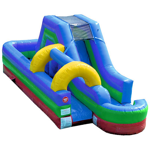 Slip and slide water slide combo inflatable water game party rental michigan