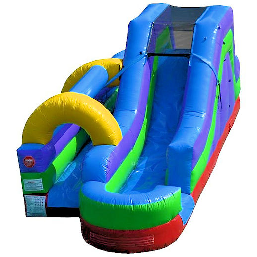 Slip and slide waterslide combo inflatable rental michigan