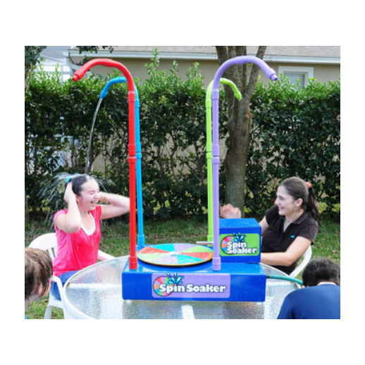 Spin Soaker interactive dunk tank water game party rental michigan