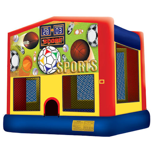 Sports inflatable bounce house moonwalk party rental michigan