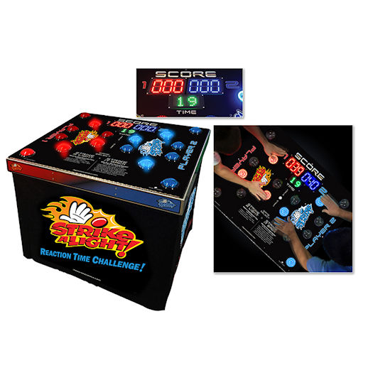 Strike A Light giant LED skill Arcade carnival game party rental michigan