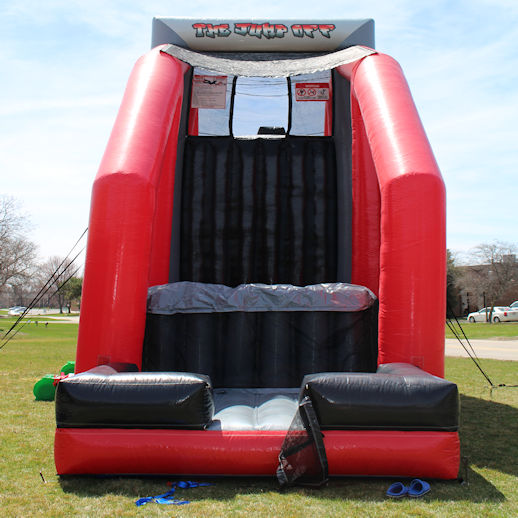 The Jump Off Base Jump Inflatable Stunt Bag Jump Extreme Interactive Party Rental Michigan