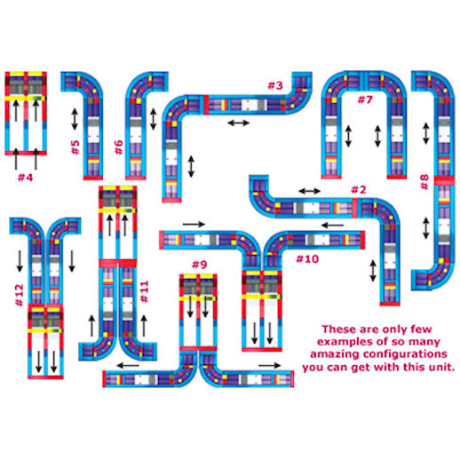 The Ultimate Module Challenge layout schematic infltable obstacle course Rental Michigan