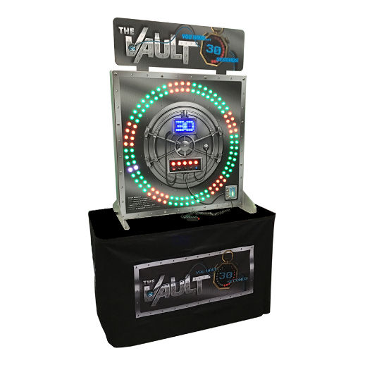 The Vault giant LED skill Arcade carnival game party rental michigan