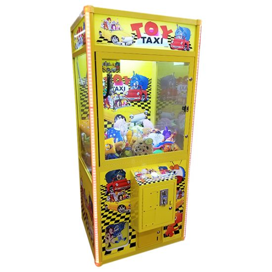 Toy Taxi Arcade Claw plush Redemption Game machine Rental michigan