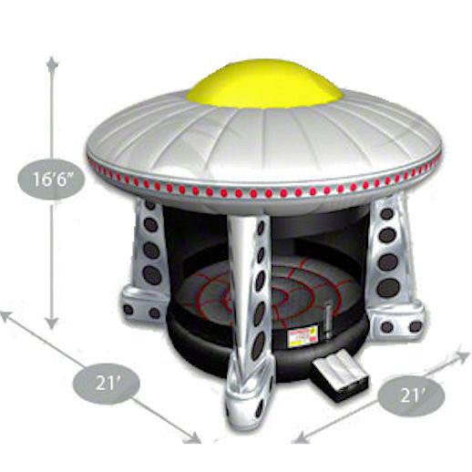 UFO inflatable moonwalk jumper moonbounce party Bounce House Rental Michigan