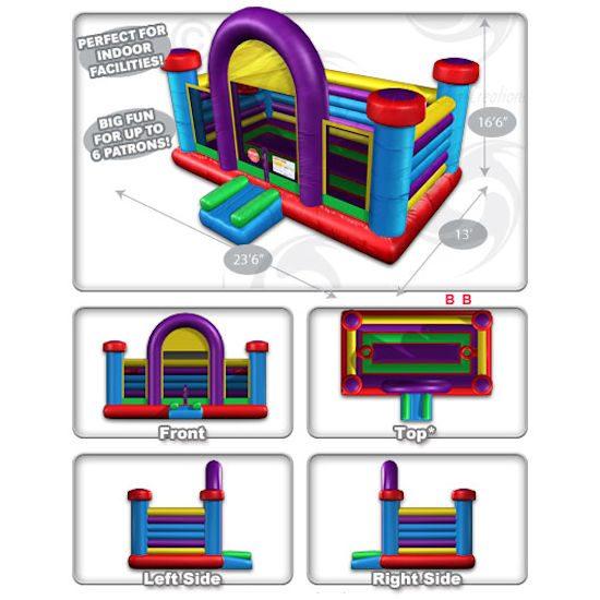 Basketball Bounce House Interactive inflatable Moonwalk party rental michigan