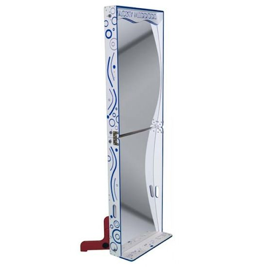 Wacky Fun House Mirror Blue