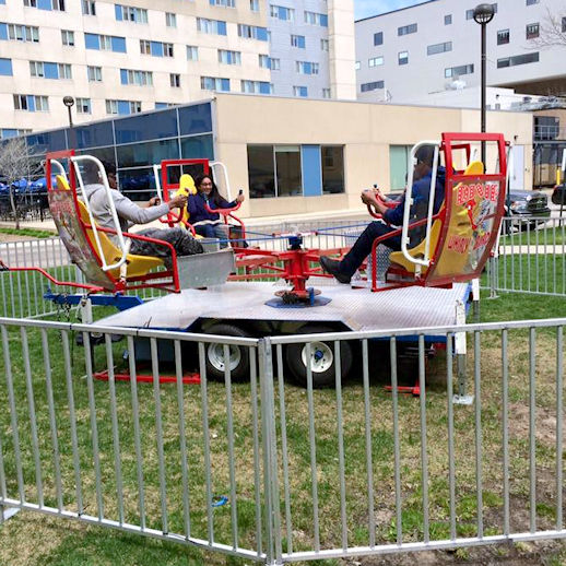 Dixie Whirly bird twin spin spinning Carnival ride rental michigan