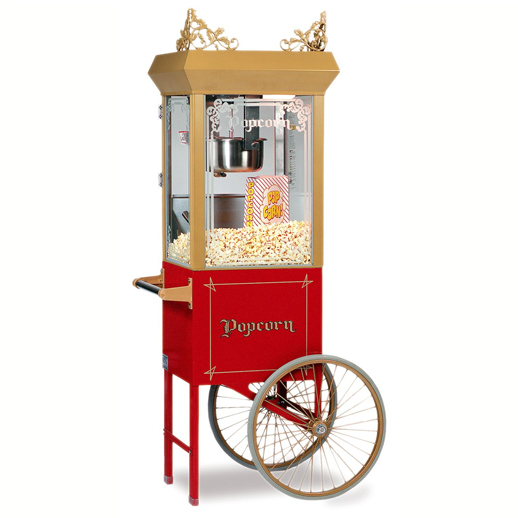 antique popcorn machine cart concession rental michigan