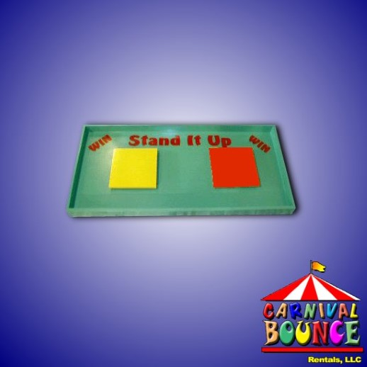 bottle stand up carnival game