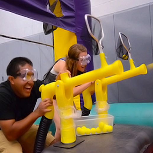 cannon ball air blaster inflatable party rentals michigan