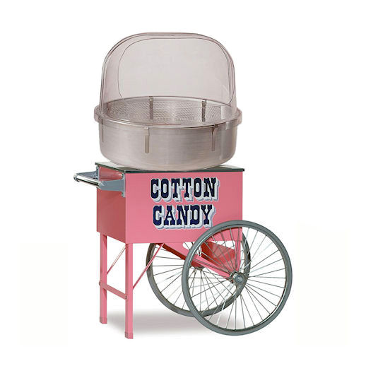 Cotton Candy Machine with Cart concession rental michigan