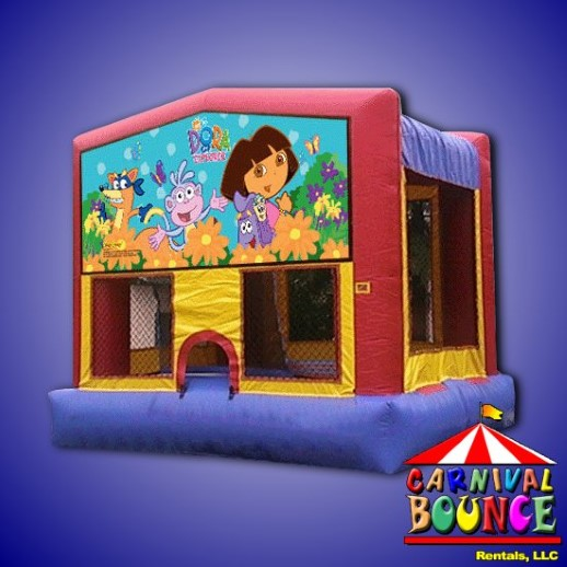 dora the explorer inflatable rental moonwalk michigan