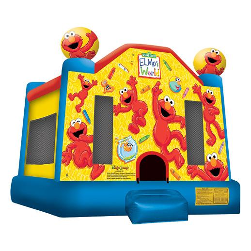 Elmo world Moonwalk Inflatable party michigan rental bounce house