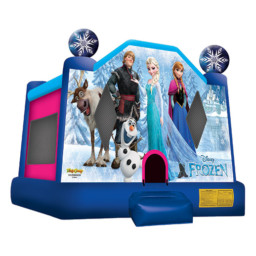 Frozen moonwalk Inflatable party rental bounce house