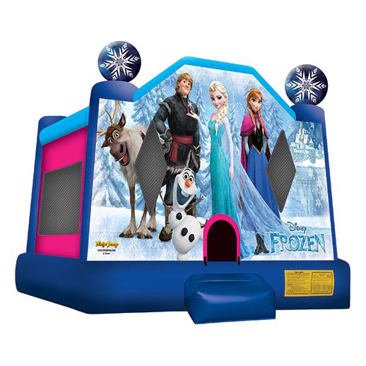 Frozen moonwalk Inflatable party rental bounce house