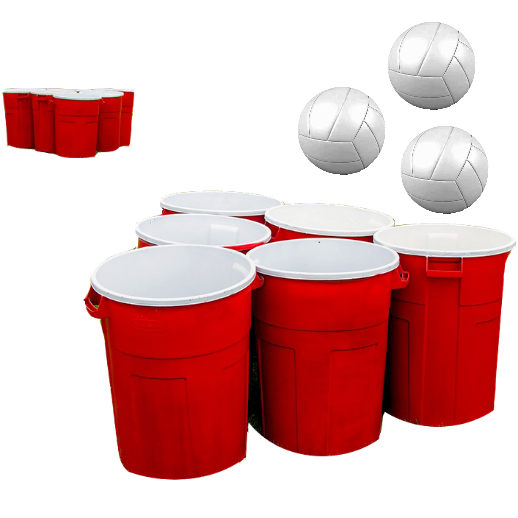 giant beer pong game party rental michigan
