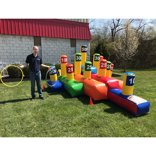 giant ring toss party rentals michigan carnival game inflatables detroit livoina novi farmington michigan