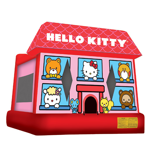 Hello Kitty Moonwalk inflatable bounce house rental michigan