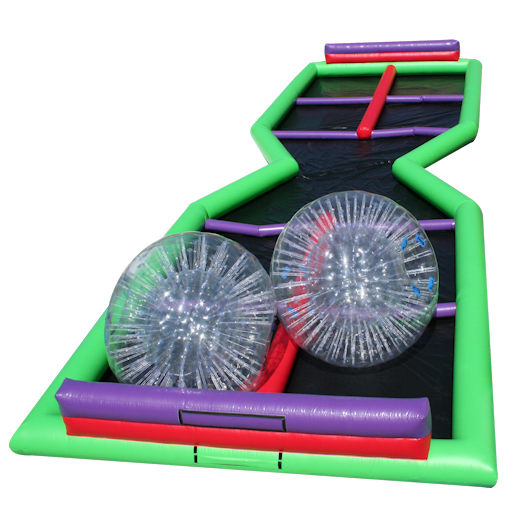 human hamsterball zorb track Zorbie ball racing inflatable michigan party rentals