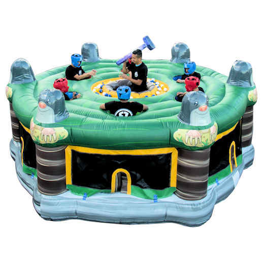 human whack a mole inflatable interactive game rental mi