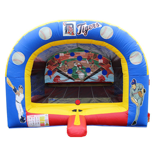 inflatable tball Baseball carnival game interactive bounce house moonwalk party rental michigan
