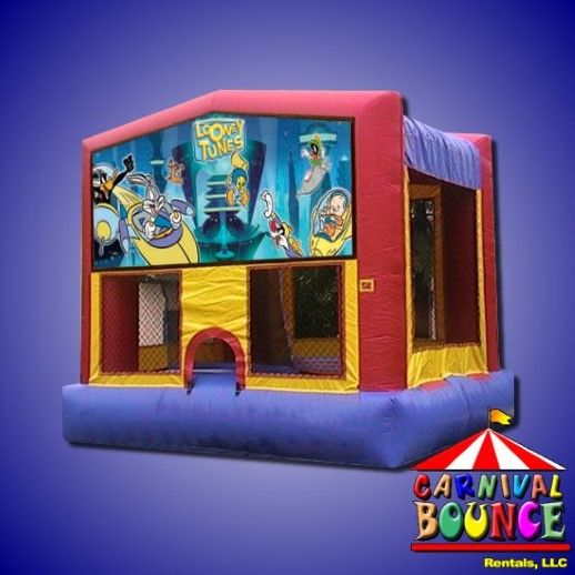 looney tunes moonwalk rental michigan bounce house