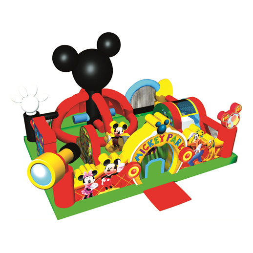mickey toddler park combo inflatable bounce house moonwalk rental michigan