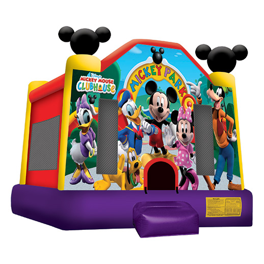 Mickey Park Moonwalk Licensed inflatable bounce house moonwalk rental michigan