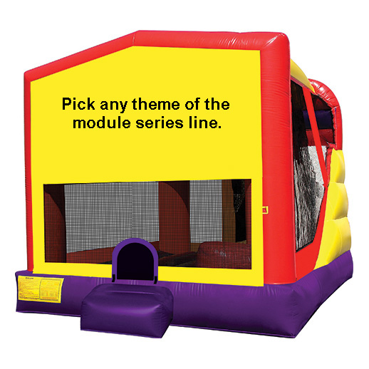 module combo 4 inflatable moonwalk rental michigan