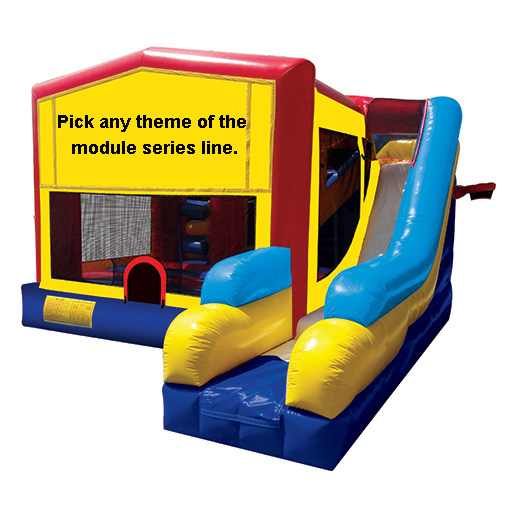 Module Combo 7 inflatable bounce house moonwalk party rental michigan