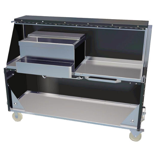portable bar stainless steel party rental in michigan