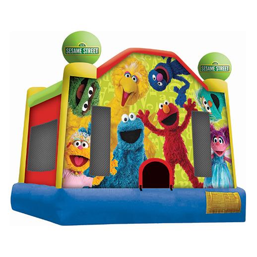 Sesame Street Moonwalk inflatable party rental farmington hills