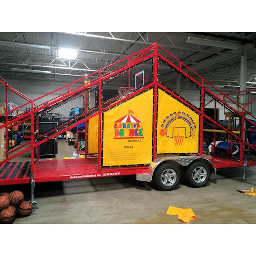 shoot n shower basketball dunk tank interactive party rental detroit michigan