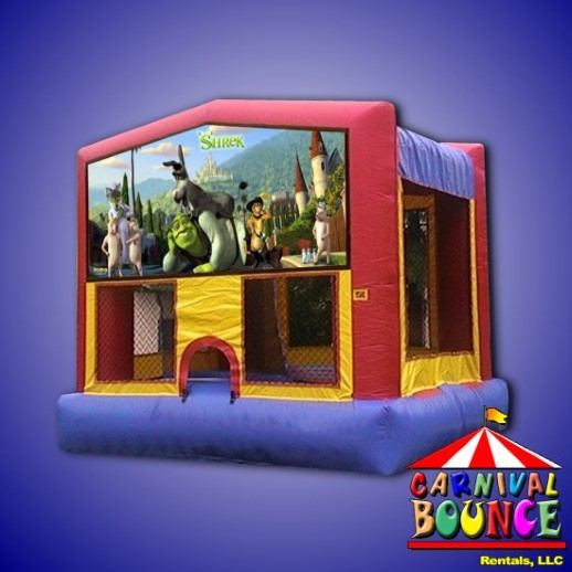 Shrek party rental michigan bounce house inflatable
