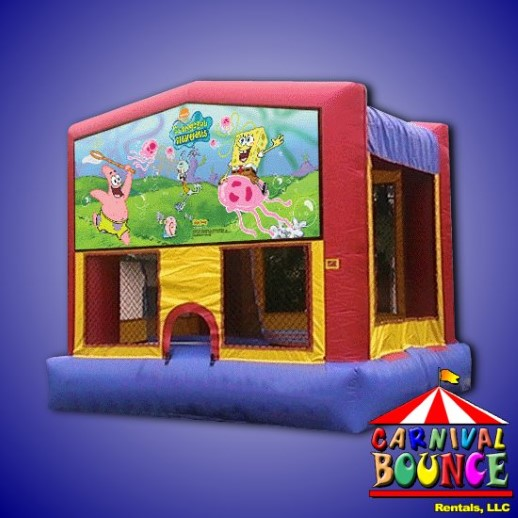 sponge bob bounce house rental moonwalk michigan