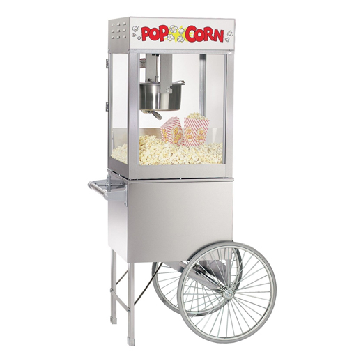 stainless popcorn machine cart concession rental michigan