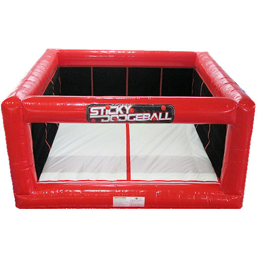 sticky velcro dodgeball inflatble party rental michigan detroit bounce house