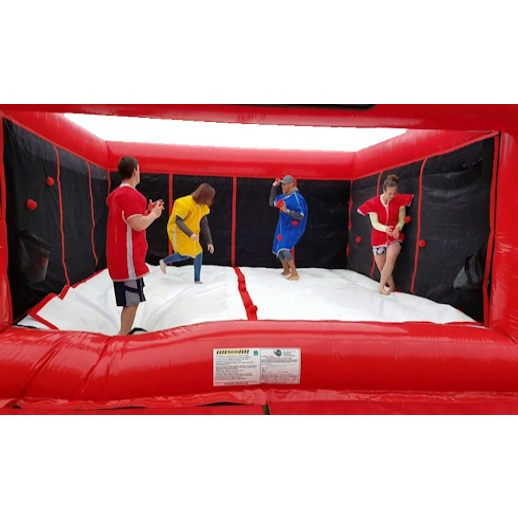 sticky velcro dodgeball inflatble party rentals michigan detroit moonwalk bounce house