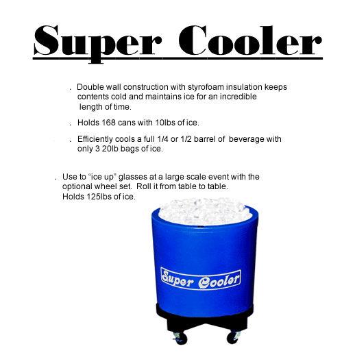 super cooler beer keg drink cooler party rental in michigan