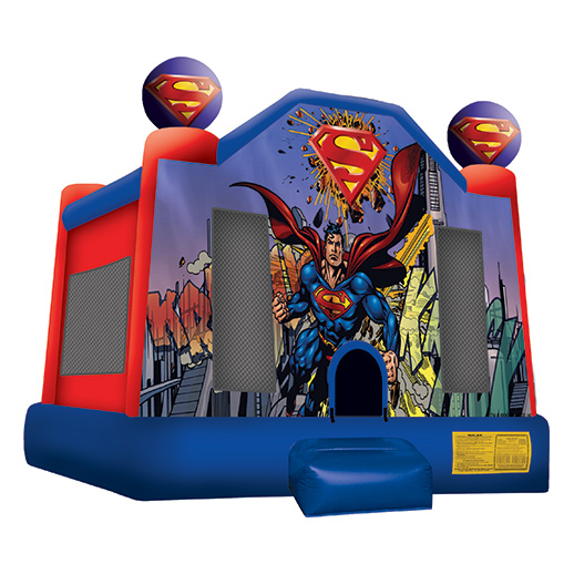 Superman Moonwalk bounce house rental michigan
