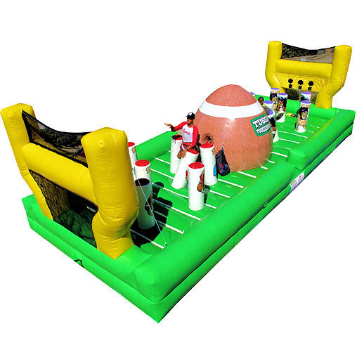 tugga touchdown bungee run inflatable equalizer interactive football game party rentals michigan