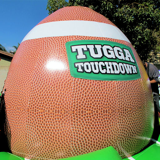 tugga touchdown bungee run interactivies inflatable equalizer football game party rentals michigan