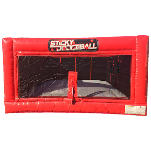 velcro sticky dodgeball inflatble party rentals michigan detroit bounce house